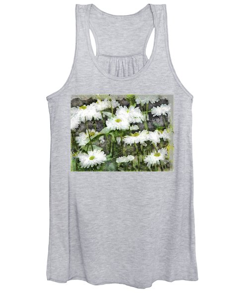 White Drops.. Women's Tank Top