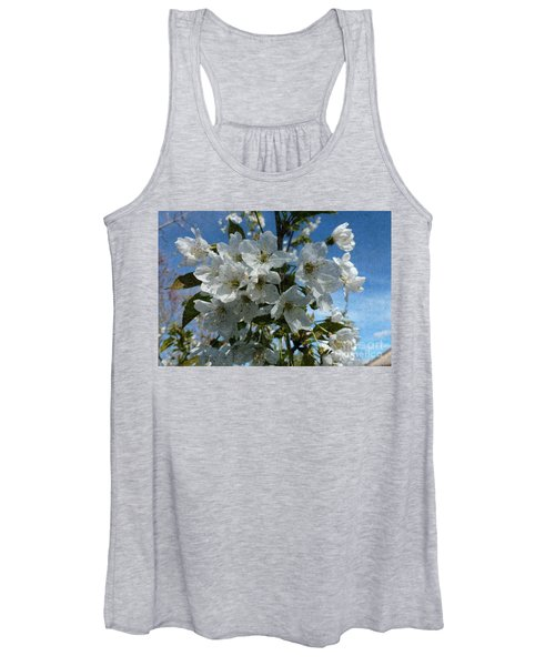 White Flowers - Variation 2 Women's Tank Top