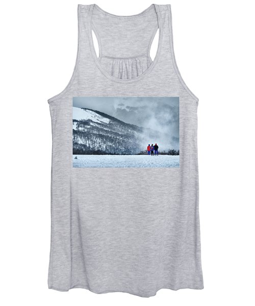 White Landscape In The Frozen Paradise In The Argentine Patagonia Women's Tank Top