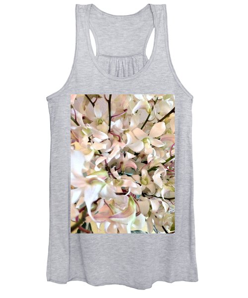 White Orchid Cluster Women's Tank Top