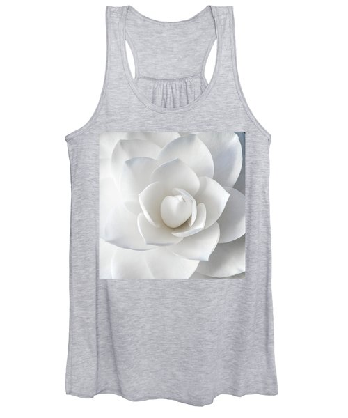 White Petals Women's Tank Top