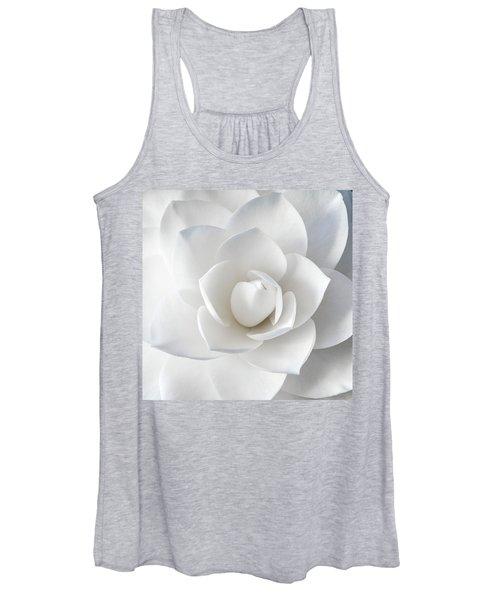 White Petals Women's Tank Top