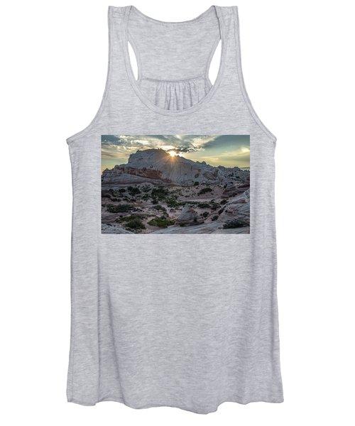 White Pocket Sunset Women's Tank Top