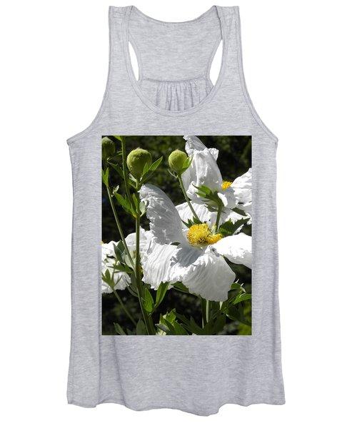 White Poppies Women's Tank Top