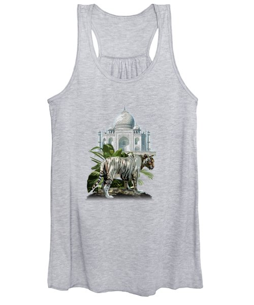 White Tiger And The Taj Mahal Image Of Beauty Women's Tank Top