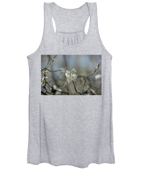 White Tree Bud Women's Tank Top