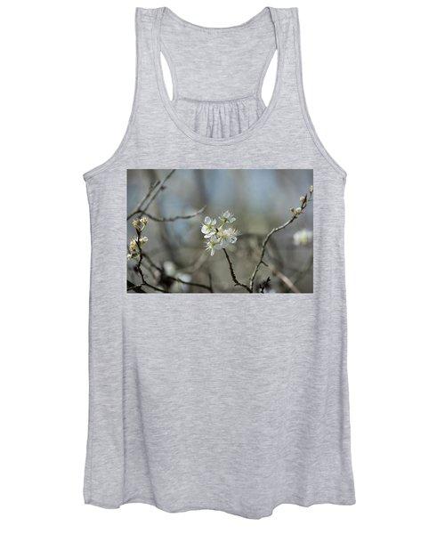 White Tree Bud Women's Tank Top