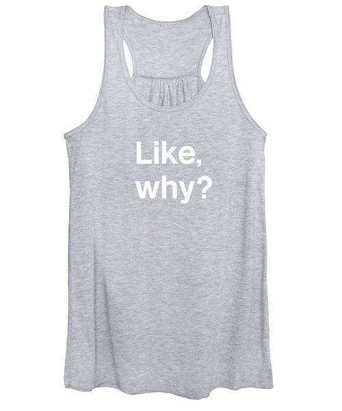 Why- Art By Linda Woods Women's Tank Top