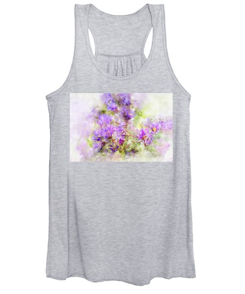 Women's Tank Top featuring the photograph Wild Flowers In The Fall Watercolor by Michael Colgate