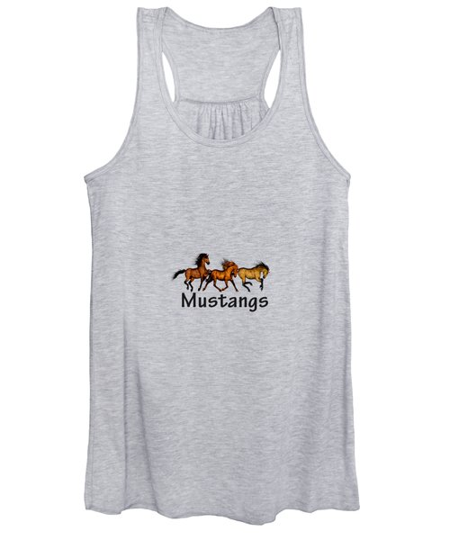 Wild Mustangs On The Run Women's Tank Top