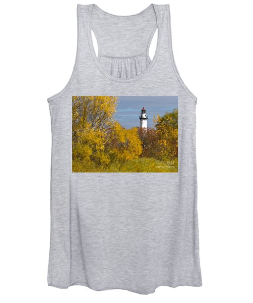 Wind Point Lighthouse In Fall Women's Tank Top