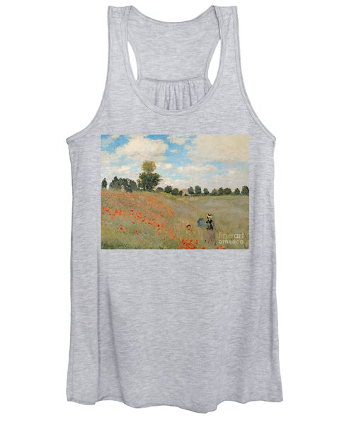 Wild Poppies Near Argenteuil Women's Tank Top