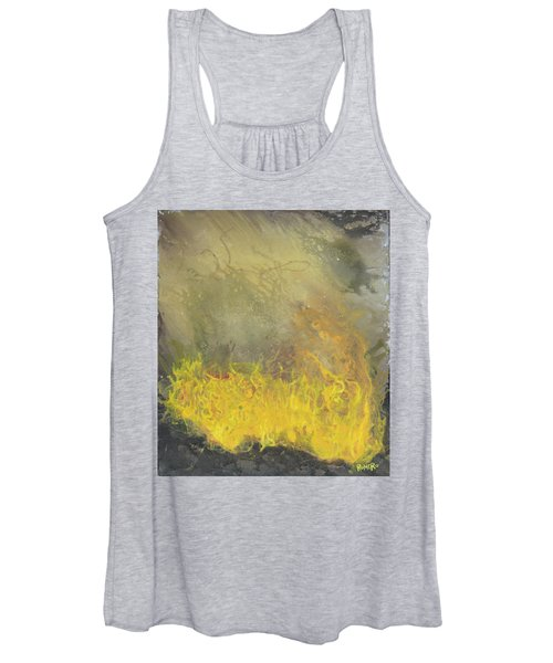 Women's Tank Top featuring the painting Wildfire by Antonio Romero