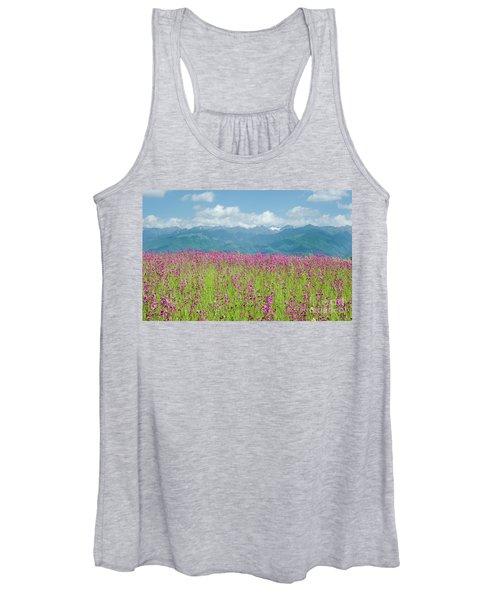 Wildflower Meadows And The Carpathian Mountains, Romania Women's Tank Top