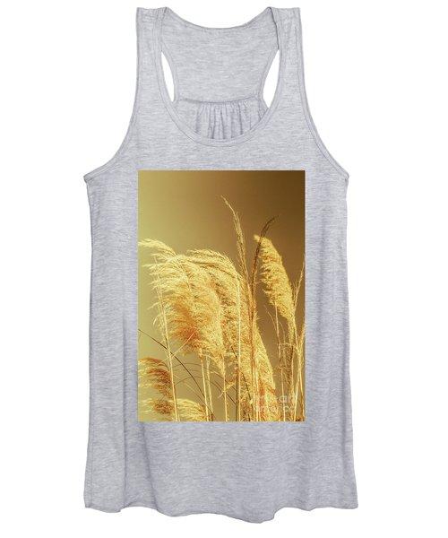 Windswept Autumn Brush Grass Women's Tank Top