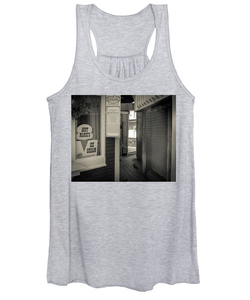 Winter At Aunt Marie's Ice Cream Stand Women's Tank Top