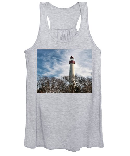 Winter At Cape May Light Women's Tank Top