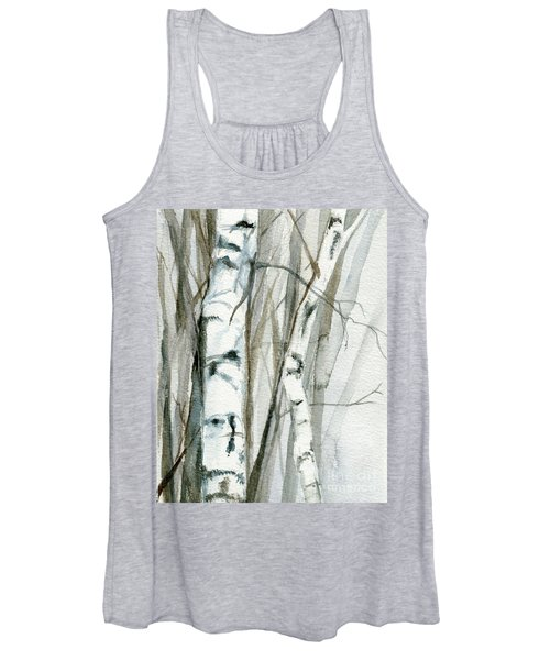 Winter Birch Women's Tank Top