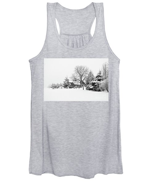 Winter In Black And White Fleckl, Germany 2 Women's Tank Top