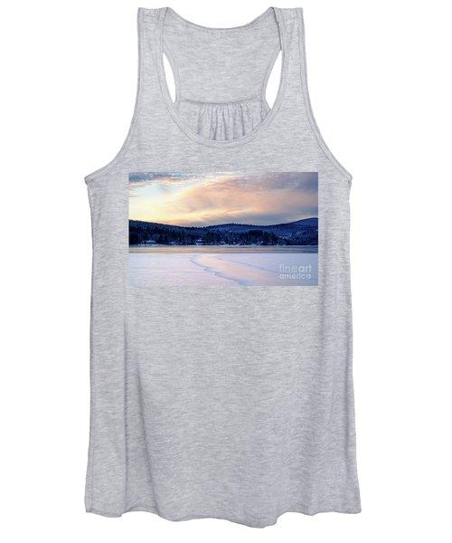 Winter Sunset On Wilson Lake In Wilton Me  -78091-78092 Women's Tank Top