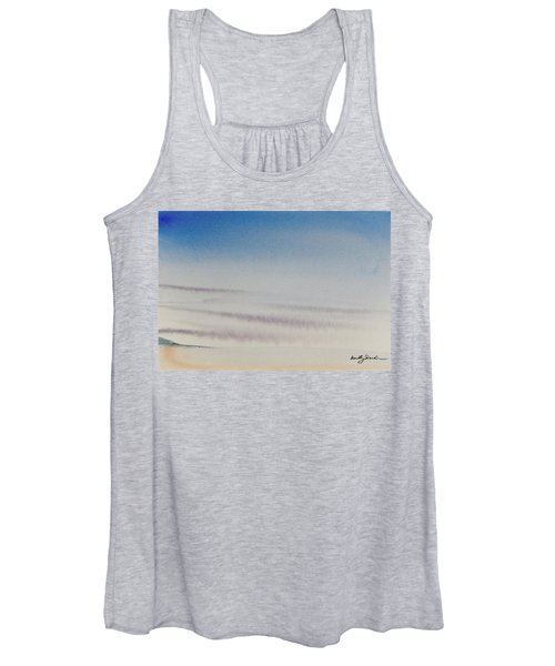 Wisps Of Clouds At Sunset Over A Calm Bay Women's Tank Top
