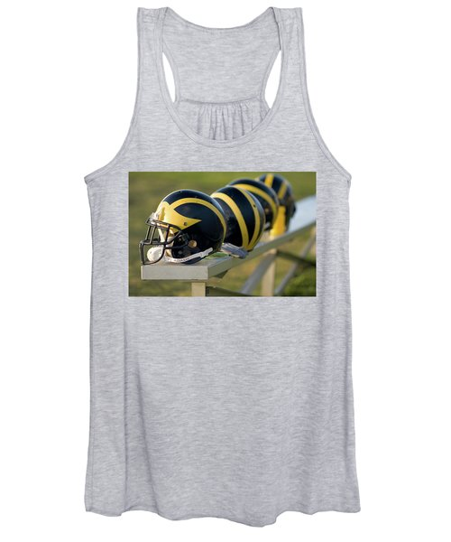 Wolverine Helmets On A Bench Women's Tank Top