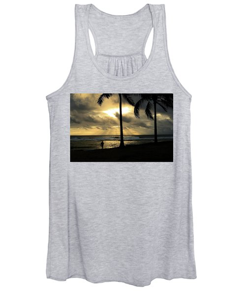 Woman In The Sunset  Women's Tank Top