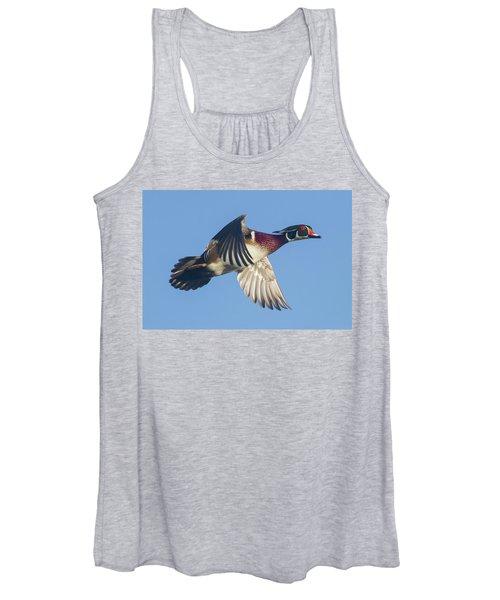 Wood Duck Flying Fast Women's Tank Top