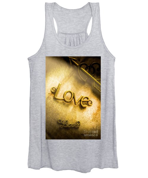 Words And Letters Of Love Women's Tank Top