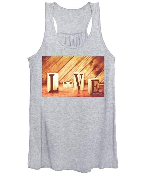Words Of Love Women's Tank Top