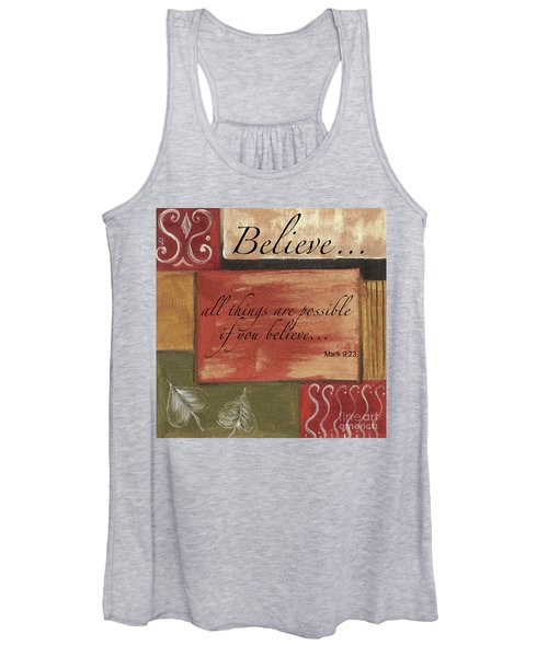 Words To Live By Believe Women's Tank Top