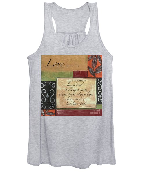 Words To Live By Love Women's Tank Top