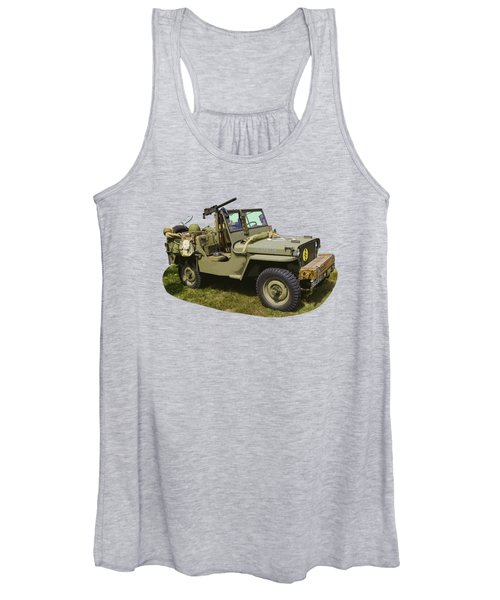 World War Two - Willys - Army Jeep  Women's Tank Top
