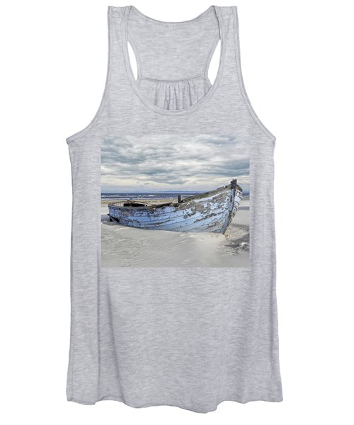 Wreck Of A Barge On A Baltic Beach Women's Tank Top