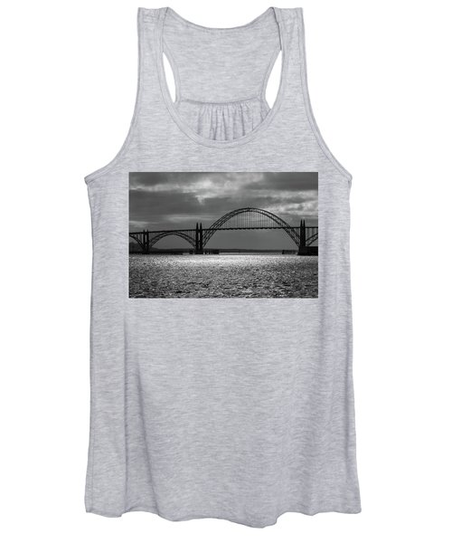 Yaquina Bay Bridge Black And White Women's Tank Top