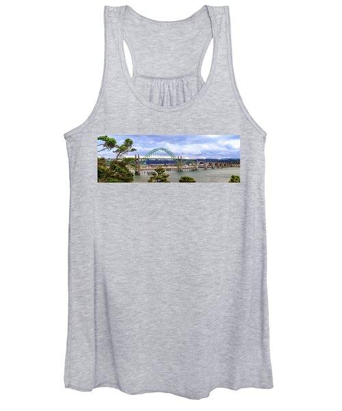 Yaquina Bay Bridge Panorama Women's Tank Top