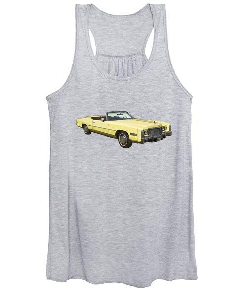 Yellow 1975 Cadillac Eldorado Convertible Women's Tank Top