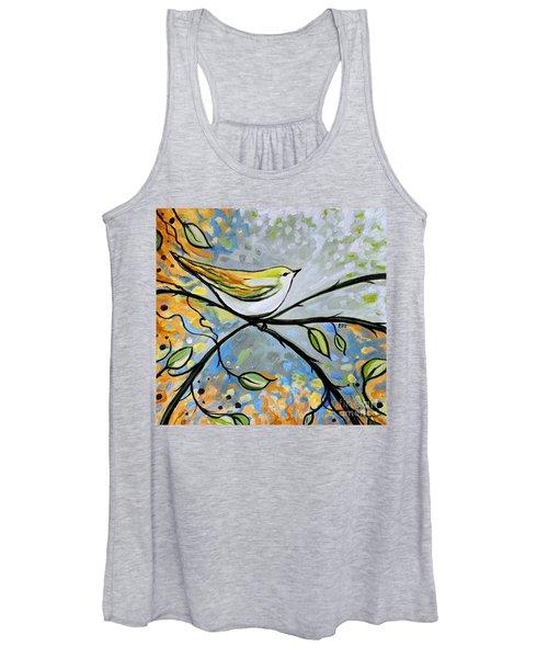 Yellow Bird Among Sage Twigs Women's Tank Top