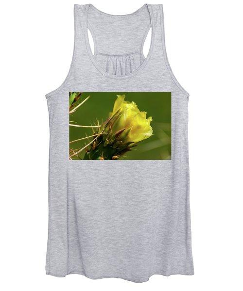 Yellow Cactus Flower Women's Tank Top