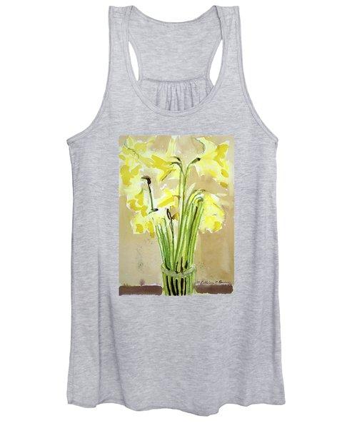 Yellow Flowers In Vase Women's Tank Top