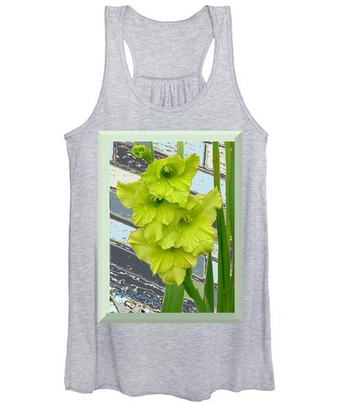 Yellow Gladiolas Women's Tank Top