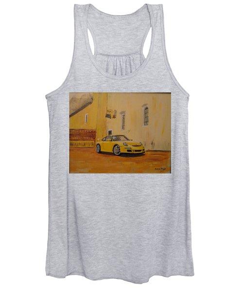Yellow Gt3 Porsche Women's Tank Top