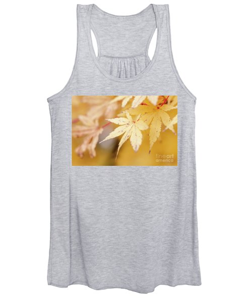 Yellow Leaf With Red Veins Women's Tank Top