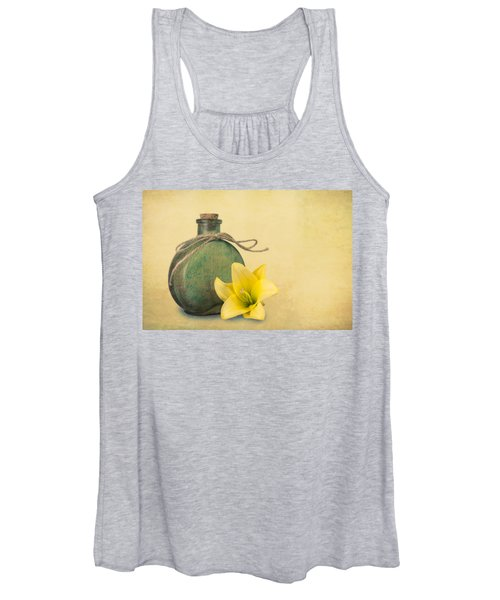 Yellow Lily And Green Bottle II Women's Tank Top
