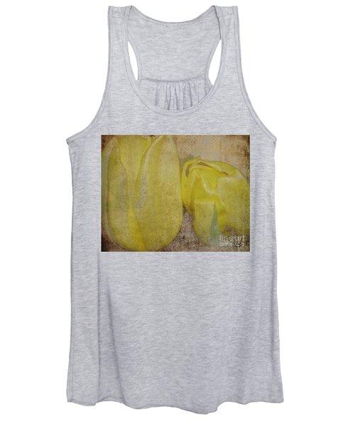 Yellow Strands Women's Tank Top
