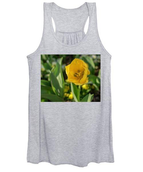 Yellow Tulip Women's Tank Top