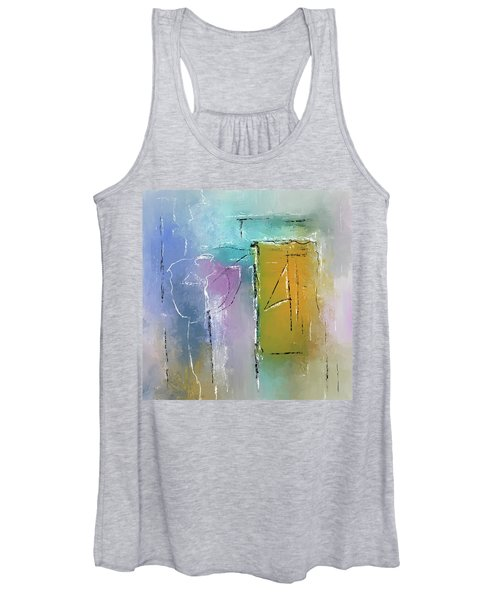 Yellows And Blues Women's Tank Top