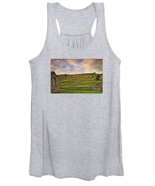 Yorkshire Dales Stone Barns And Walls Women's Tank Top