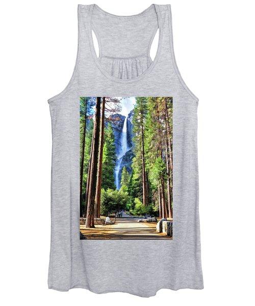 Yosemite National Park Bridalveil Fall Trees Women's Tank Top