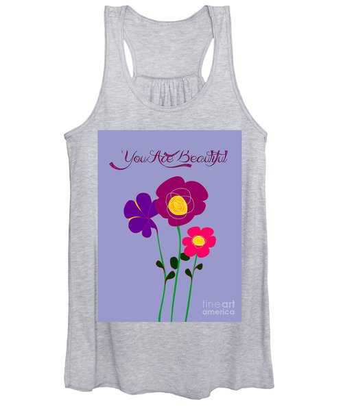 You Are Beautiful - Poppies Women's Tank Top